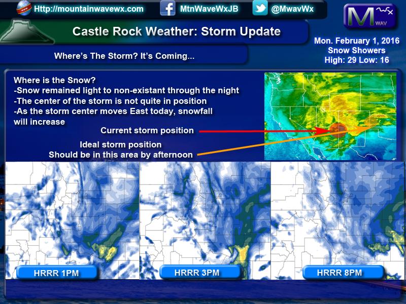 Winter Storm Still on Track