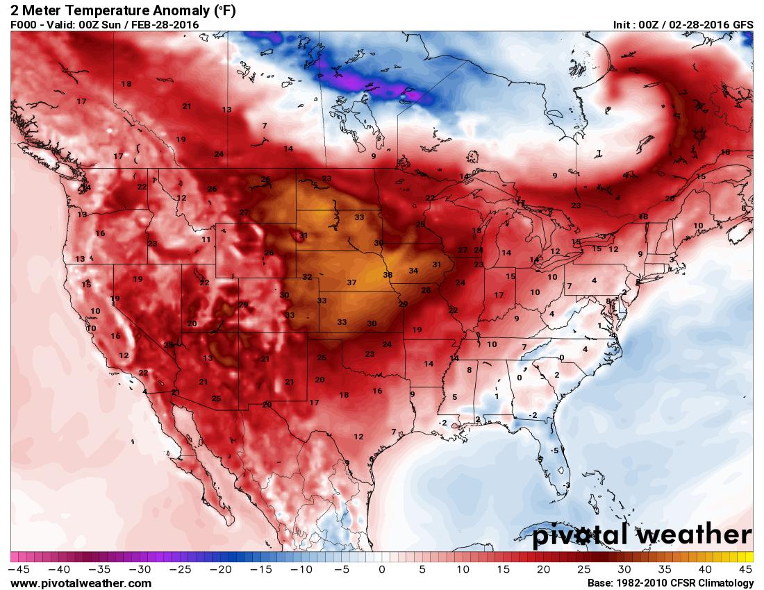 Western U.S. Ridge Keeps Colorado Very Warm and Dry