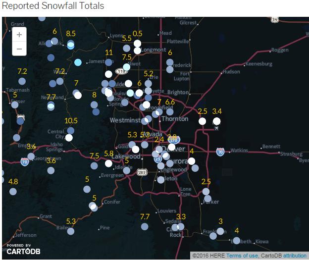 Winter Storm Snowfall Totals and Recap