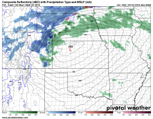NAM 4K Radar forecast for Weds AM (Higher resolution model)