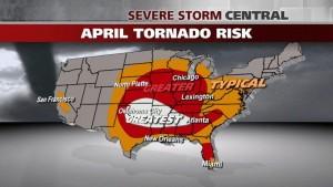 April U.S. Tornado Risk