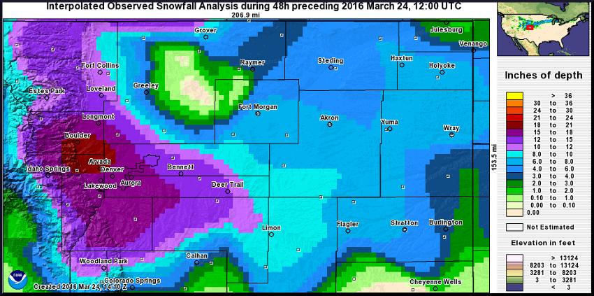 NWS preliminary snowfall map