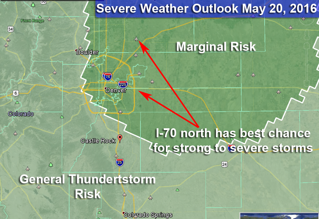 SPC Severe Weather Risk Now Includes Denver