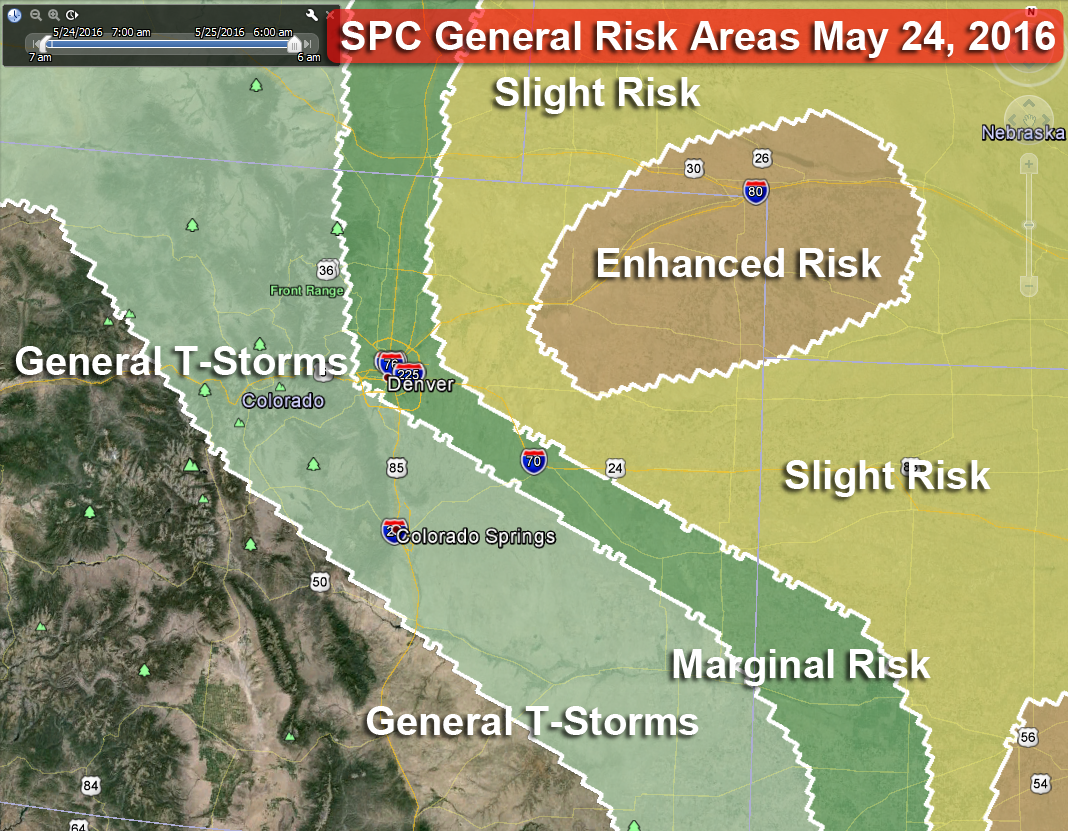 Severe Weather Expected for Northeast Colorado May 24, 2016