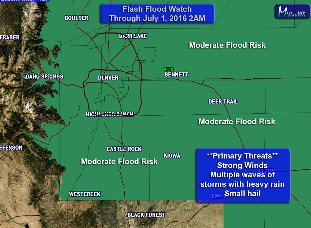 Flash Flood Watch Issued — Heavy Rain Possible Thursday and Friday