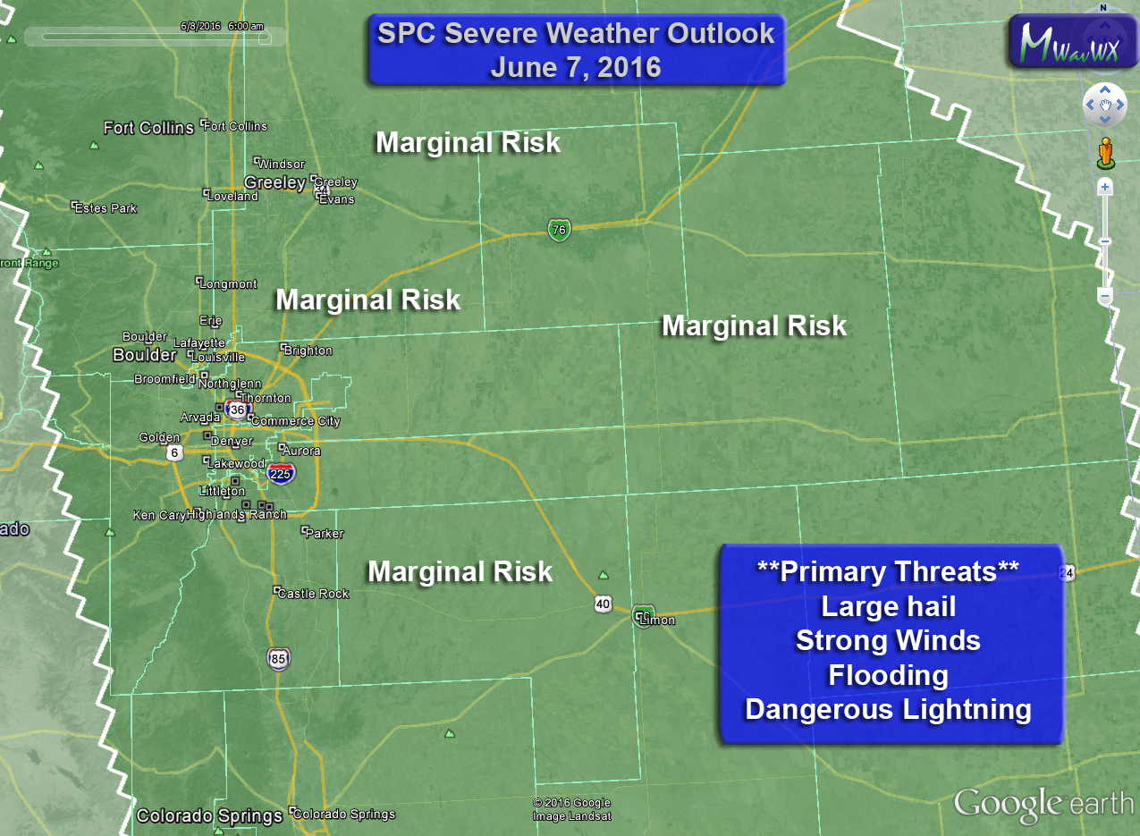 Severe Weather Possible Again Tomorrow for Colorado (Tuesday June 7)