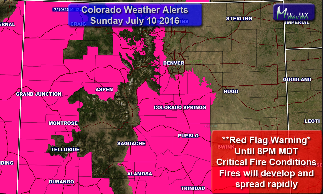 **Red Flag Warning Issued** — Extreme Fire Danger
