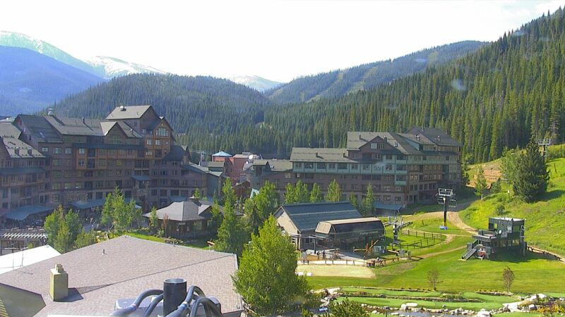 Winter Park base cam as of this morning
