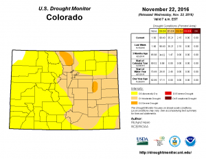 U.S. Drought Monitor still shows all of Douglas County in a Moderate Drought status.