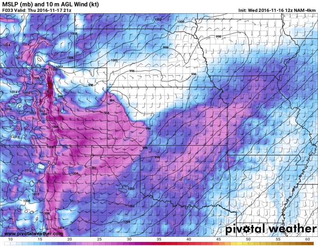 NAM 4K Model Predicted Wind
