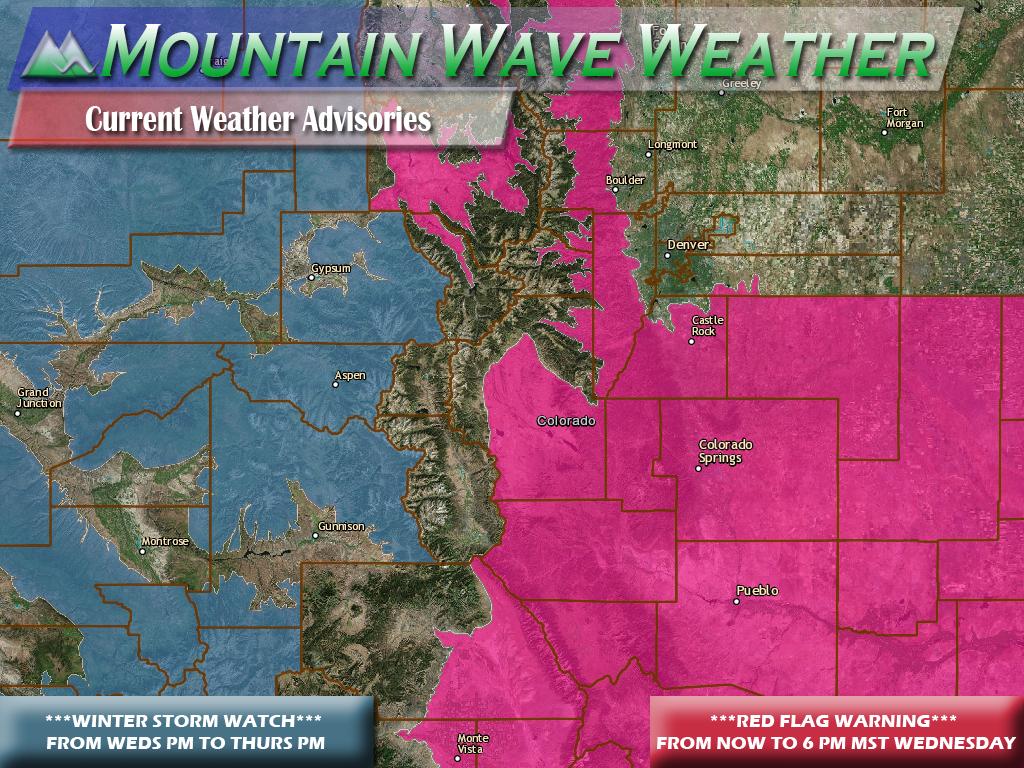 Colorado weather advisories November 16, 2016