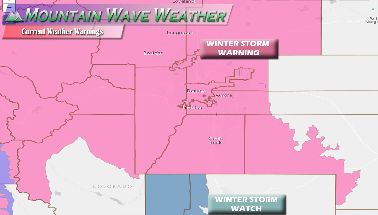 Winter Storm Warnings Issued for Front Range