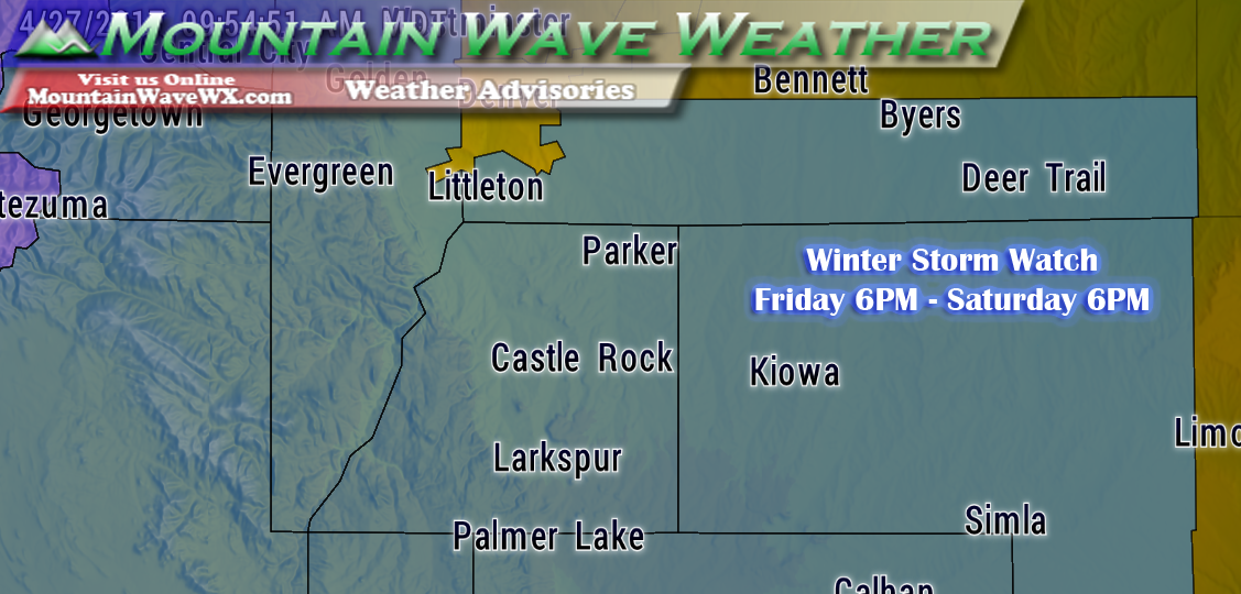 Winter Storm Watch Issued for Palmer Divide Region