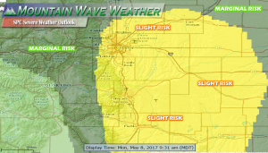 Castle Rock Severe Weather Outlook May 8, 2017