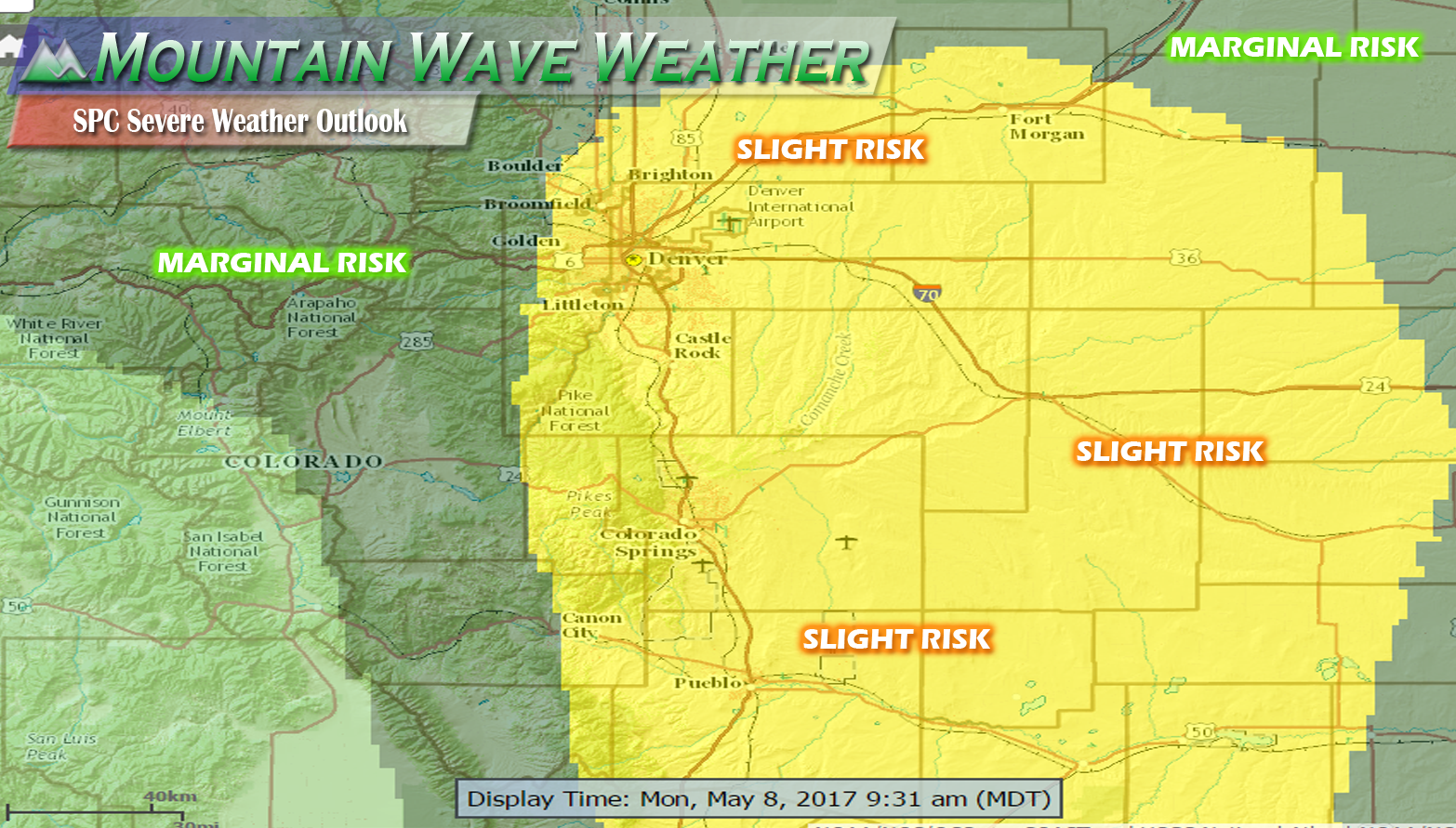 Severe Weather Looks Likely Today Along Front Range