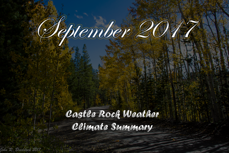Castle Rock & Colorado September 2017 Weather Recap