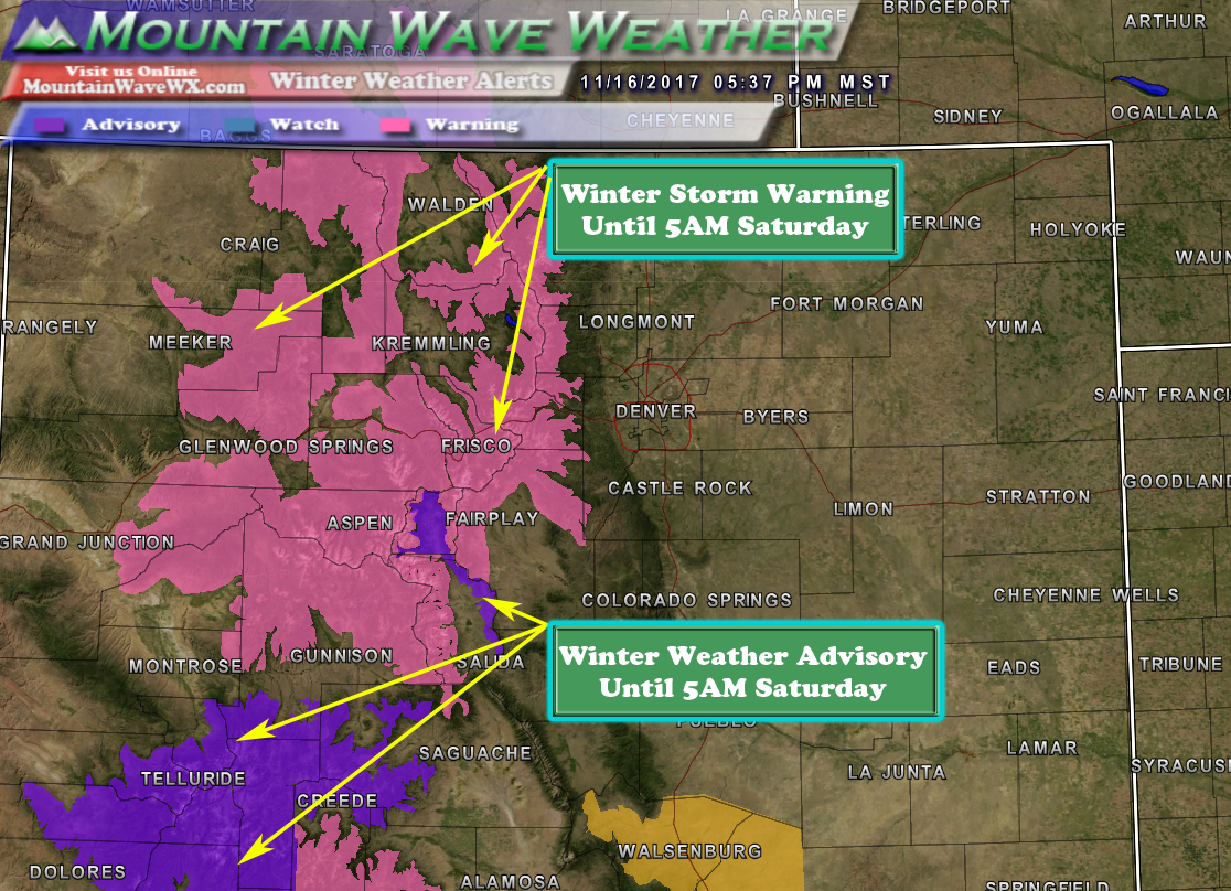 Winter Storm Warning | Colorado Snowstorm | Colorado Ski Areas | Colorado Mountains | Snowpack