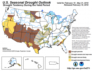 Climate Prediction Center | Drought Outlook | Spring 2018 Drought