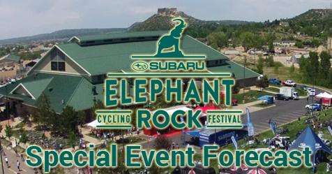 Elephant Rock Race 2018 Forecast for Castle Rock and Palmer Divide