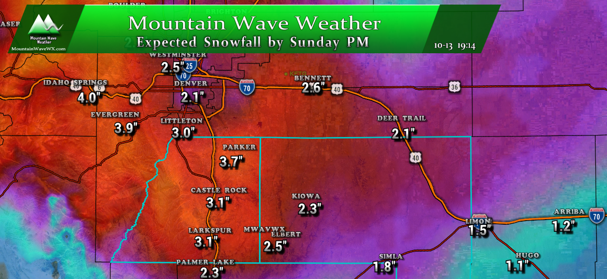 Saturday PM Palmer Divide Storm Update