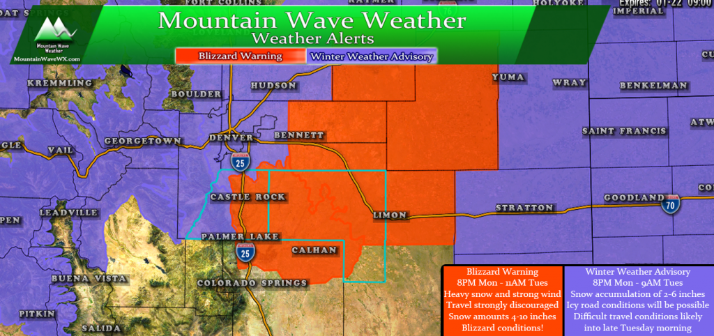 Castle Rock Weather | Palmer Divide Weather | Blizzard Warning | Snow Storm | Winter Weather Advisory