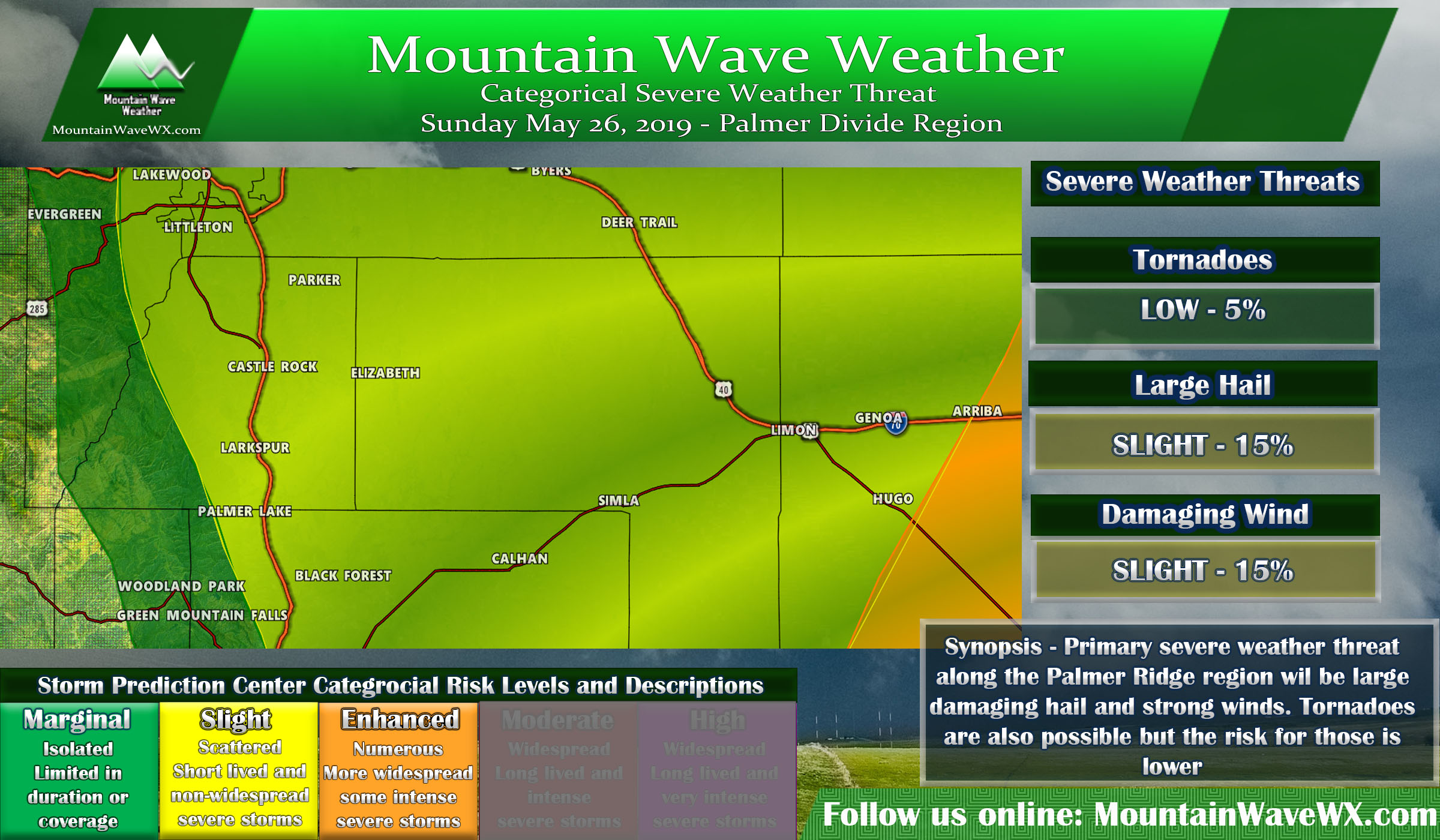 Severe Weather Possible Today – 5/26/2019