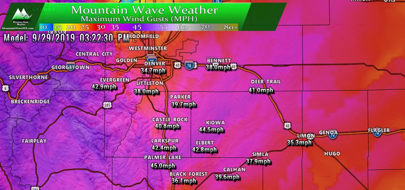 High Winds Possible over Next 48 Hours – Palmer Divide – 09/27/2019