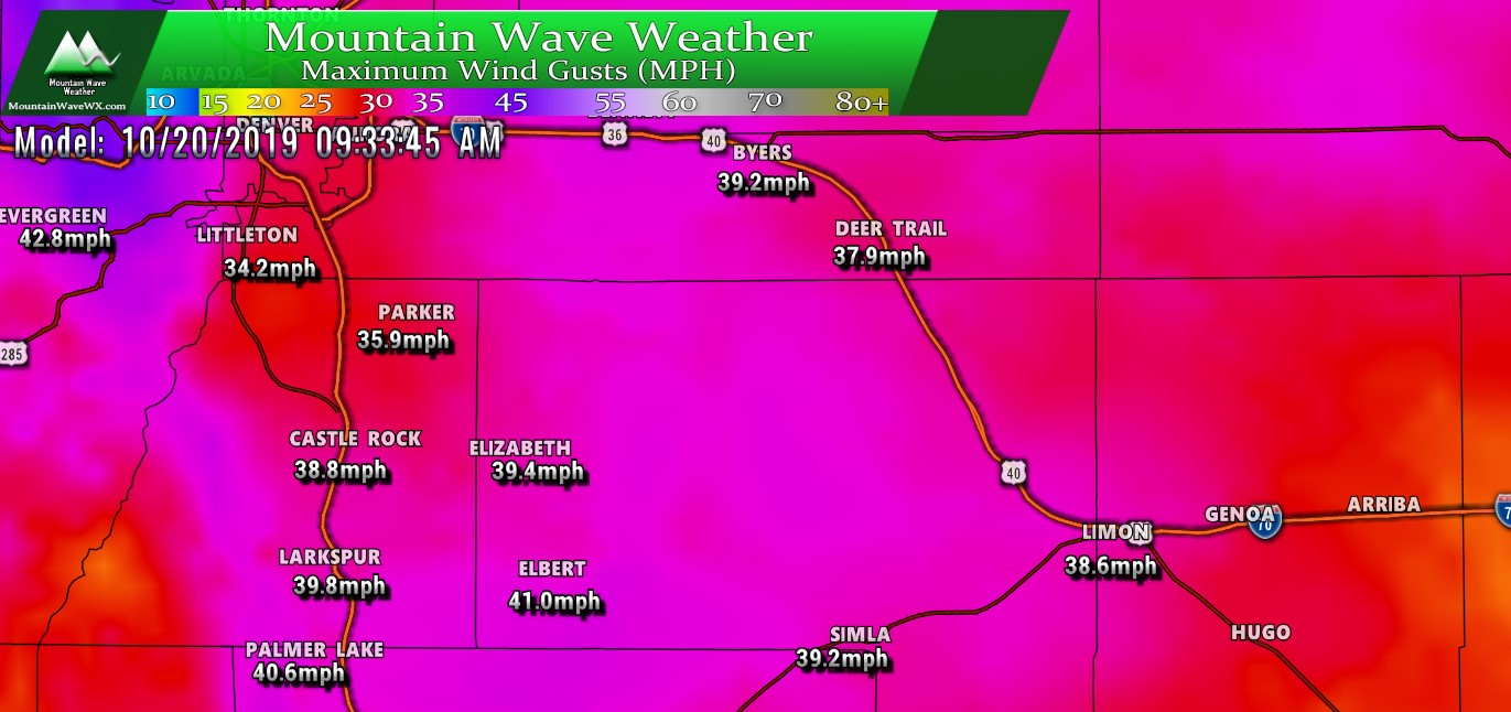 High Winds, Little Moisture for Palmer Divide This Weekend – 10/19/2019
