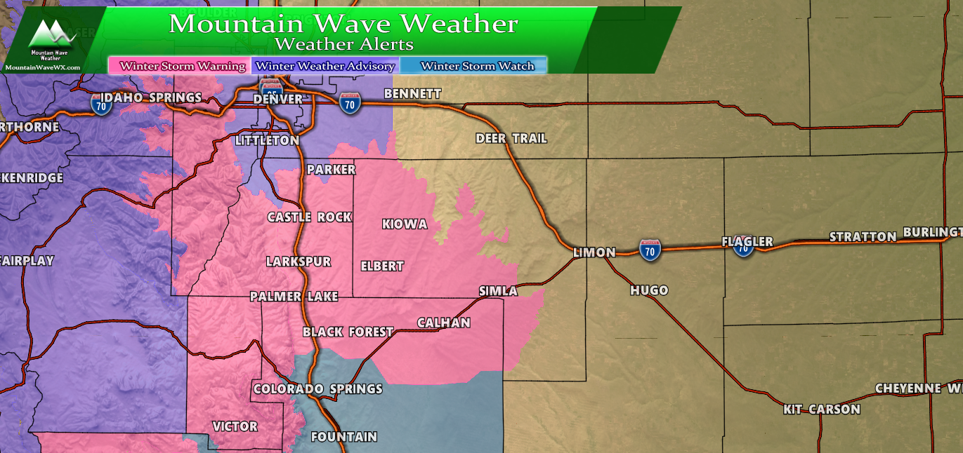 Storm Update – Palmer Divide/ Foothills Still Highest Snow Accum.