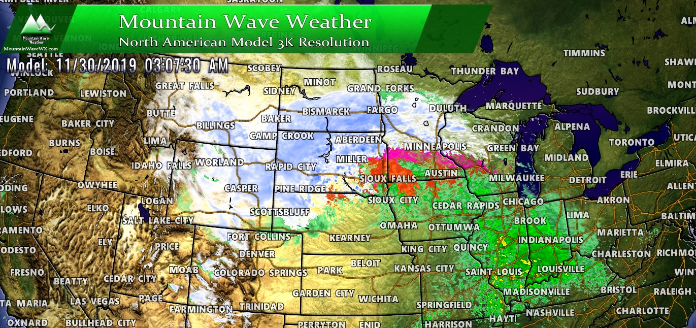 Western/Central U.S. Travel Weather Outlook Next 3 Days – 11/29/2019