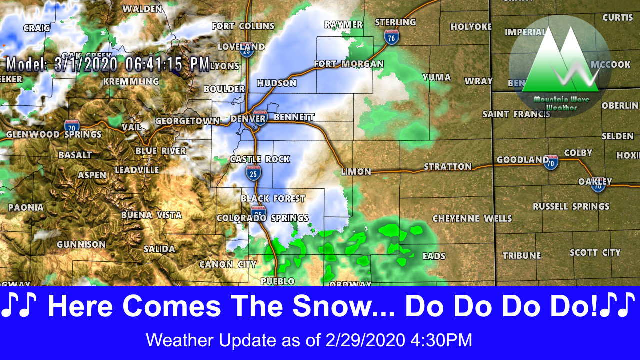 Next Chance for Snow Moving in Sunday!