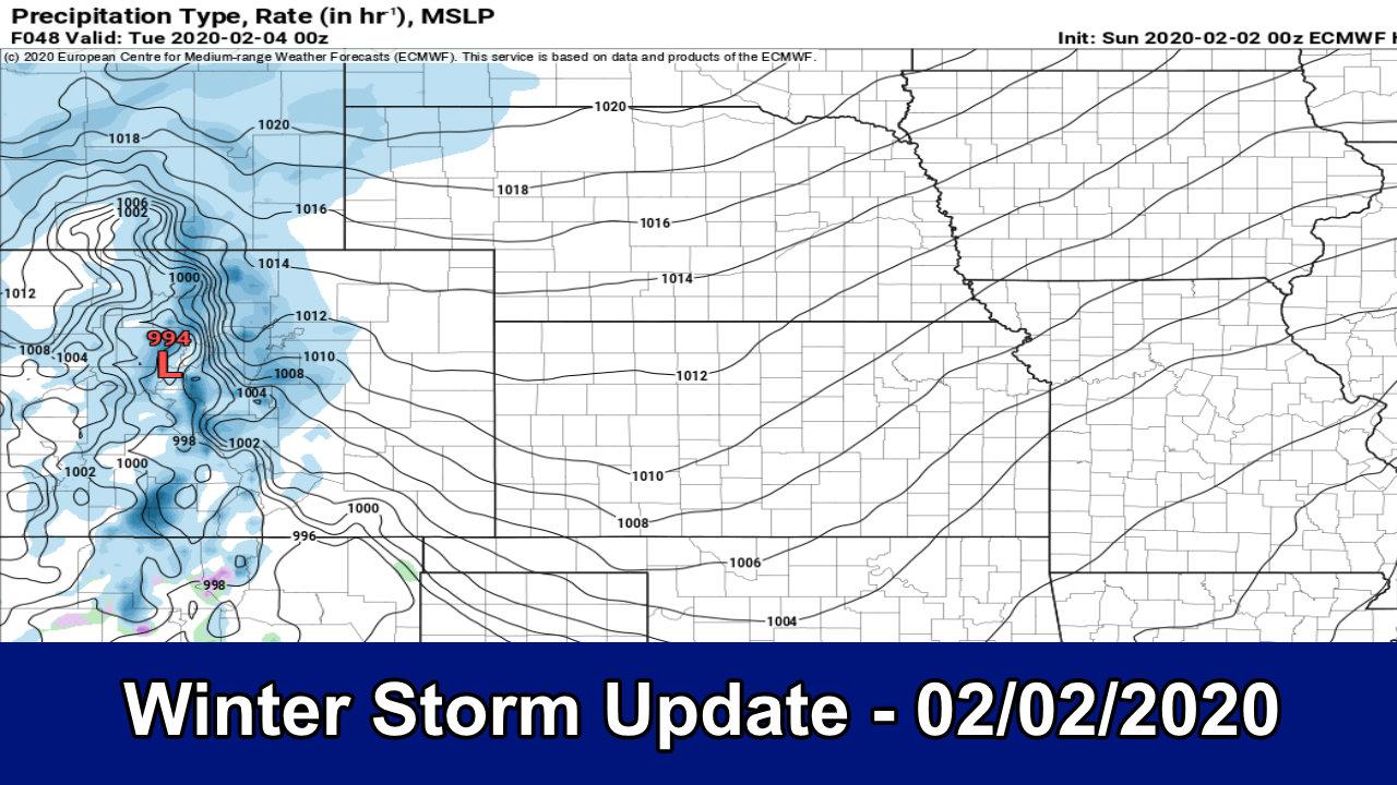 Storm Update – Decent Snow Expected – Update 02/02/2020