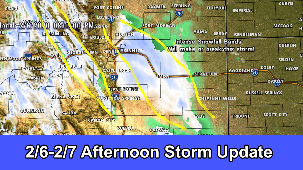 Afternoon Storm Update for 2/6 – 2/7/2020