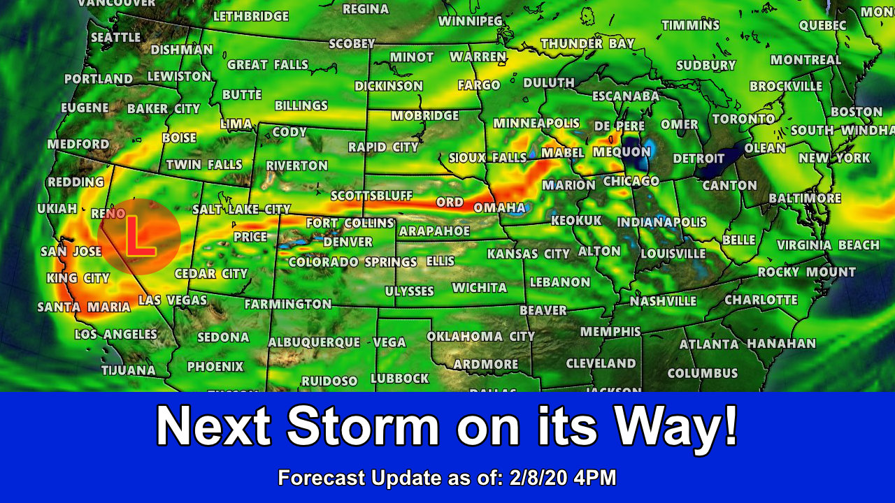 Unsettled Weather Continues – Next Storm On Its Way!