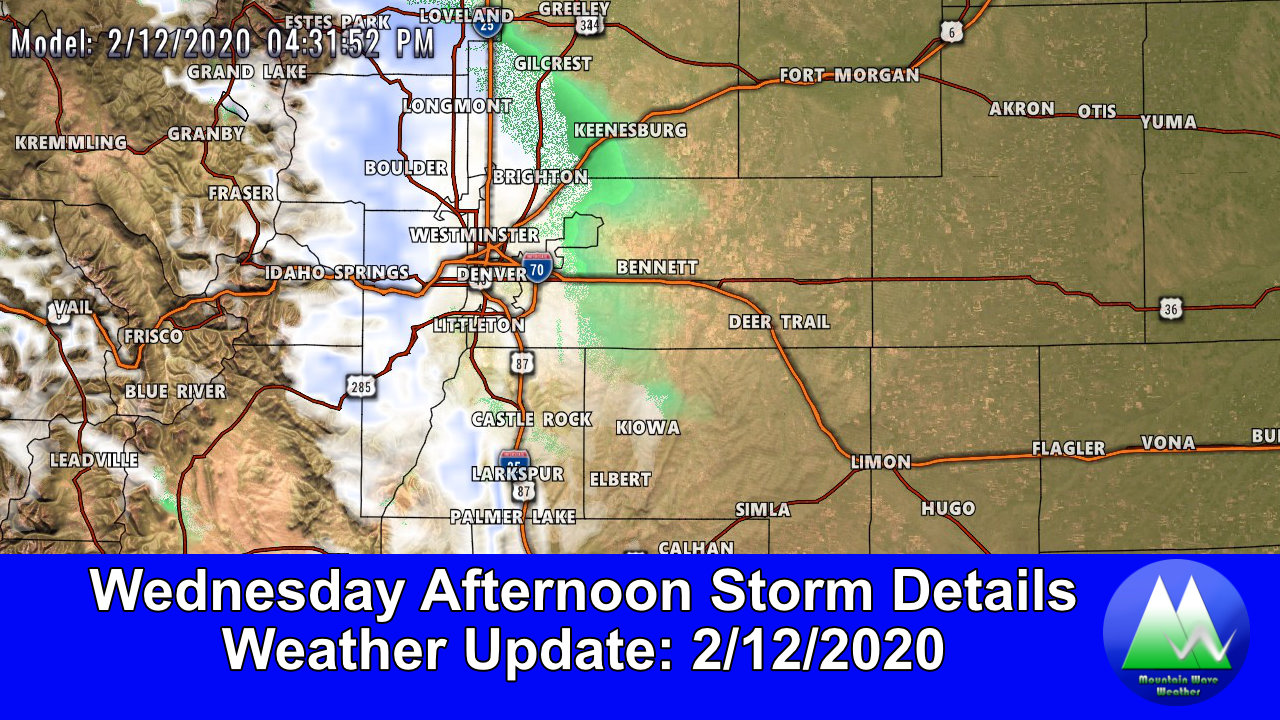 Next Chance of Snow – Wednesday Afternoon
