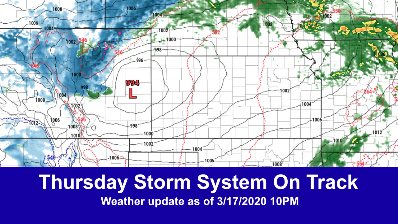 Thursday Storm – Strong Spring Storm Possible – Updates