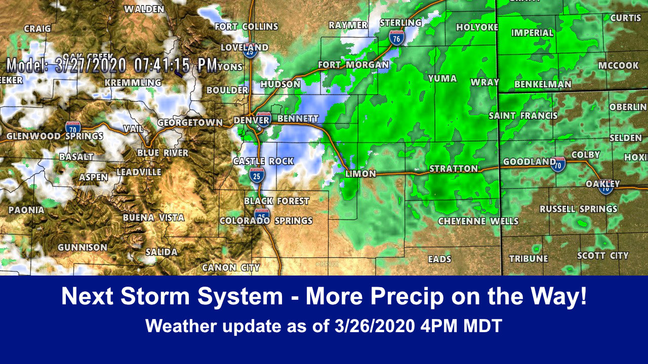 Next Storm Moving In – Chance of Snow!