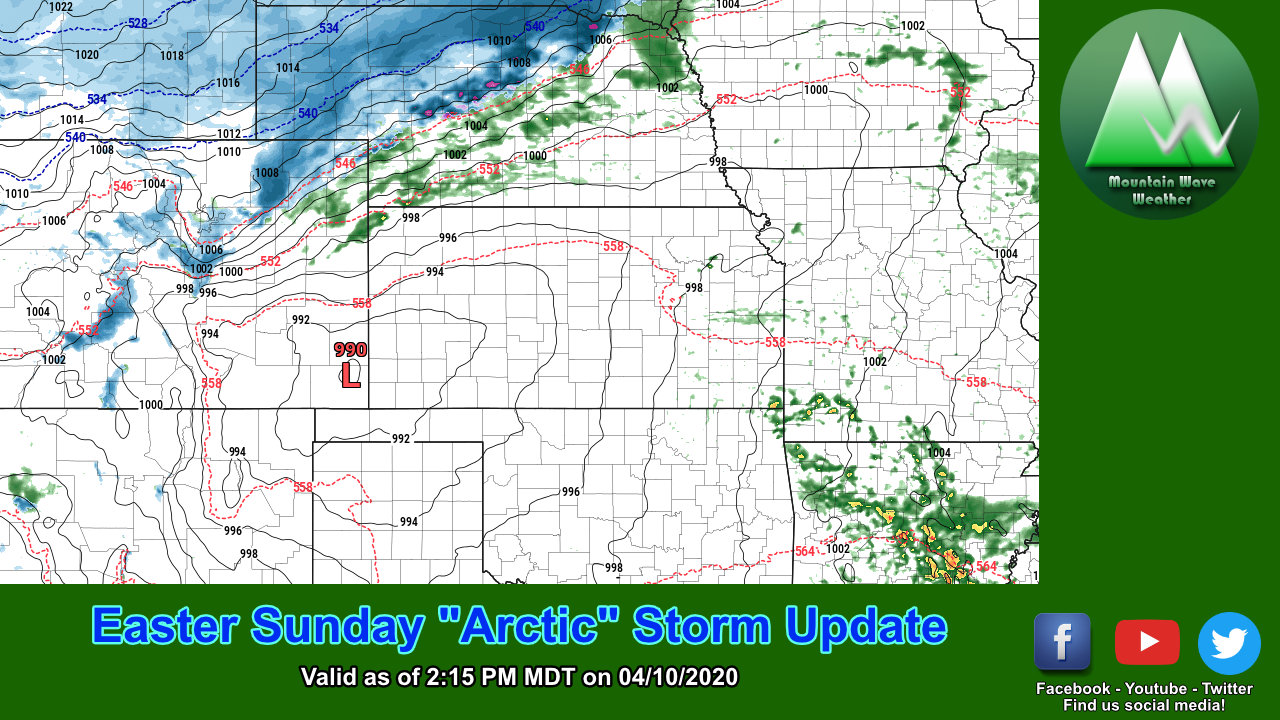 Easter Sunday – Storm's A Coming! Latest Updates…