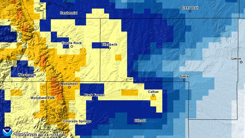 Storm Snowfall Totals Sunday April 12 – Tuesday April 14, 2020