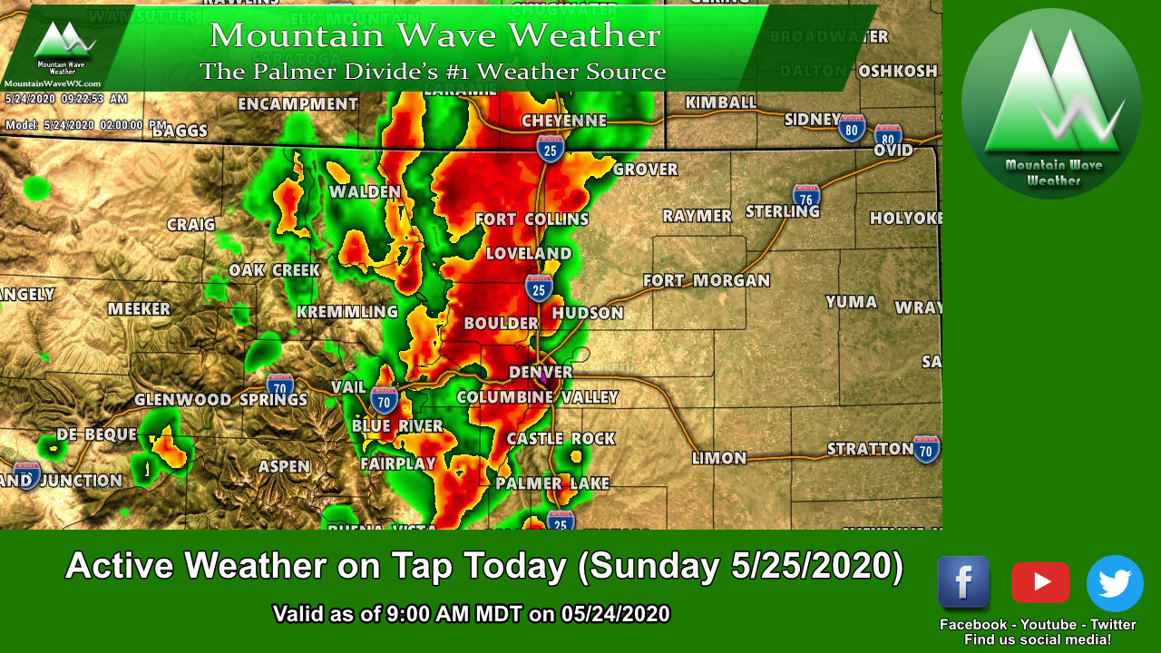 Rain/Strong Storms in the Mix Today – 05/24/2020