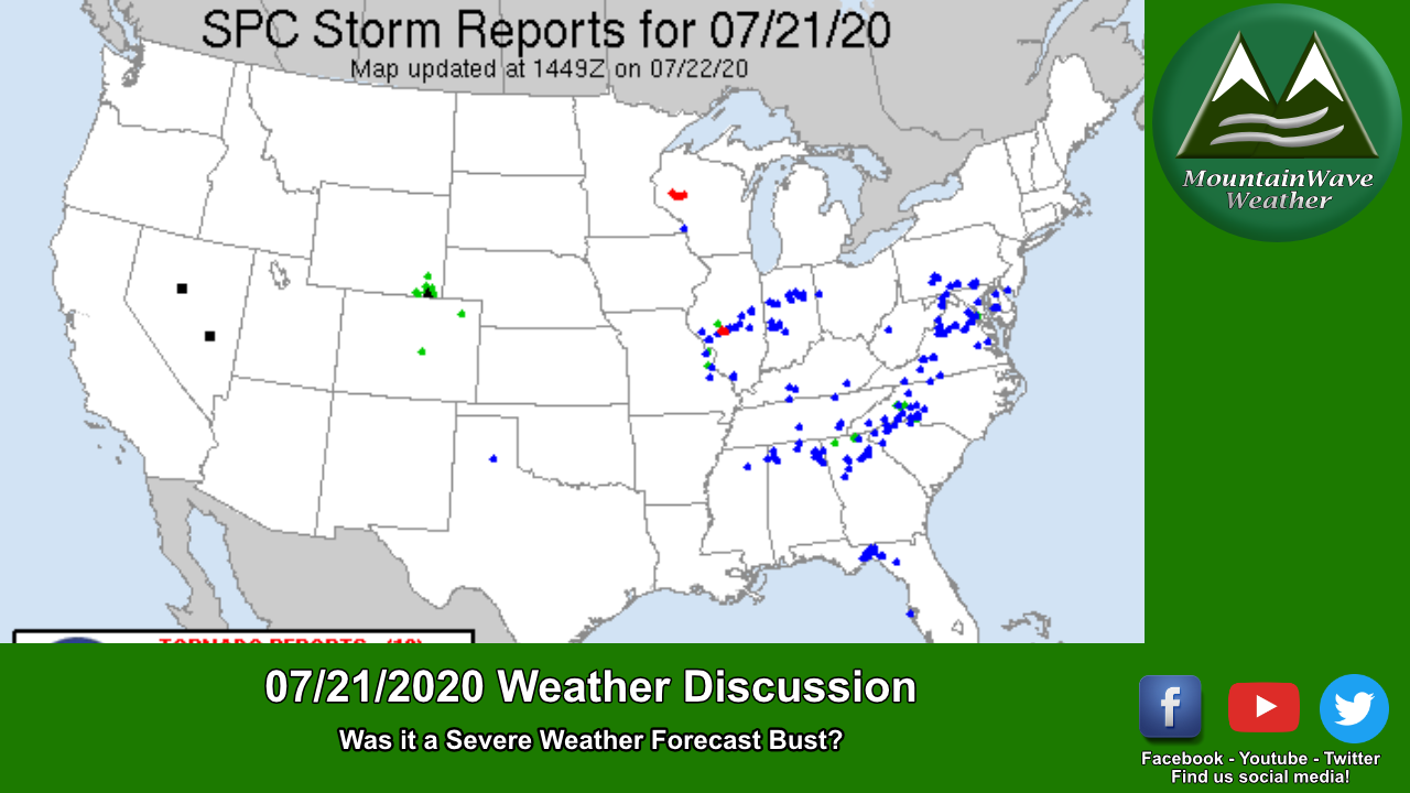 Was Yesterday's (07/21/2020) Severe Wx Forecast A Bust?