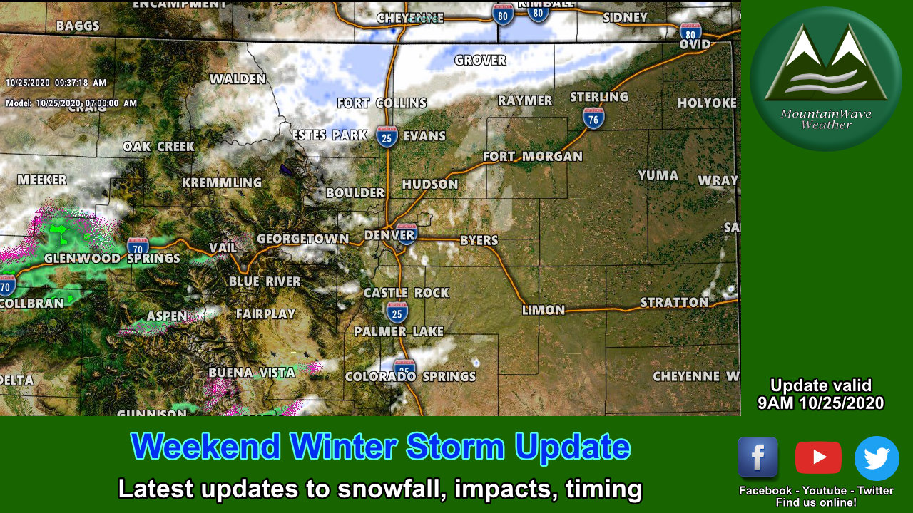 Forecast Adjustments and Storm Update – 10/25/2020