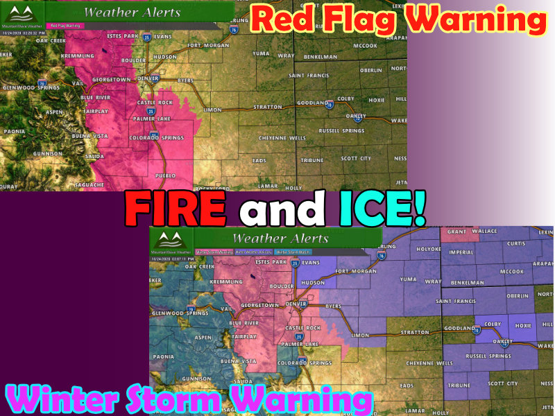 Fire Weather and Winter Storm Update – 10-24-2020