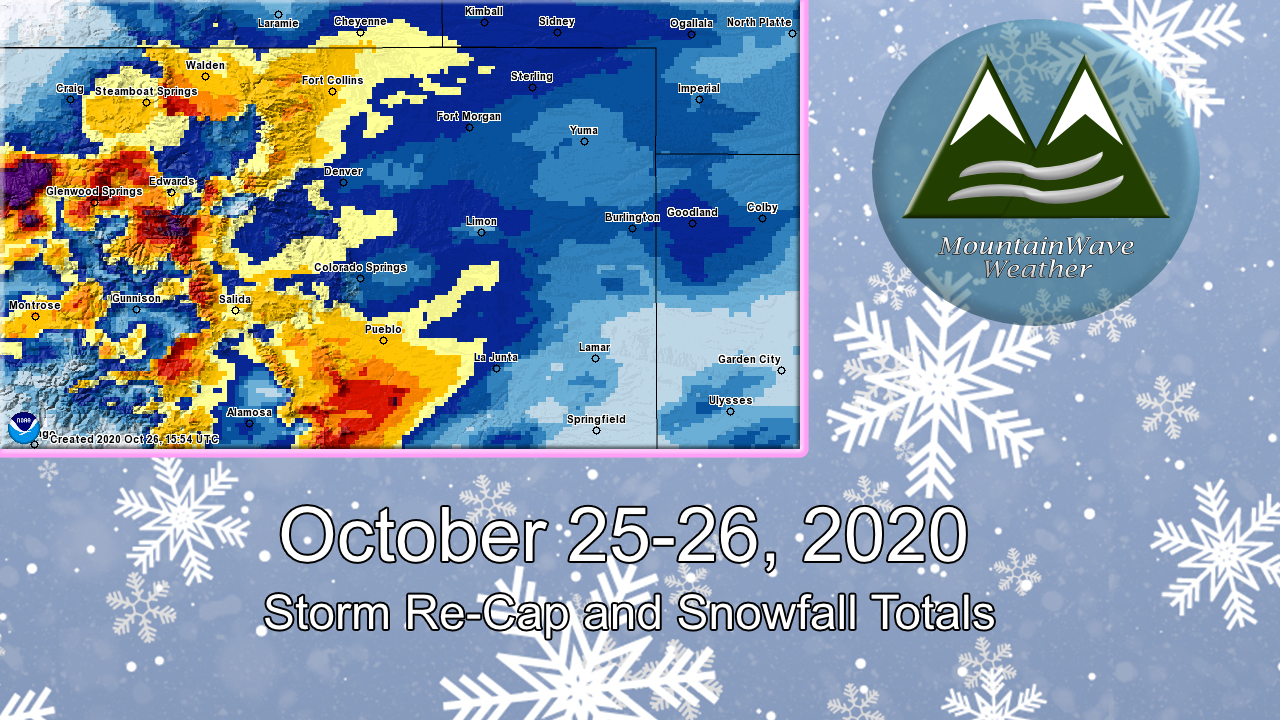 October 25-26, 2020 Snow Storm Re-Cap