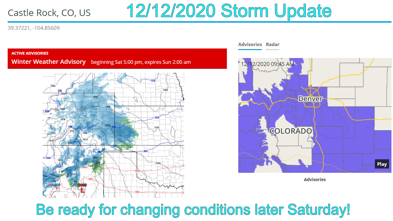 Saturday Evening Storm Will Pack A Bit More Punch – Storm Update 12/12/2020
