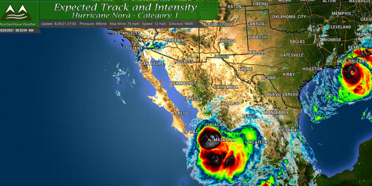 Hurricane Nora – Sending Moisture Towards Colorado?